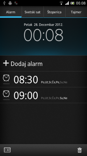 SONY XPERIA ION alarmi