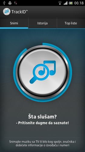 SONY XPERIA ION prepoznavanje muzike