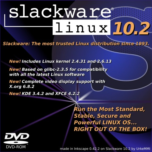 Slackware 10.2 CD cover