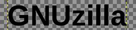 GIMP: GNUzilla tekst