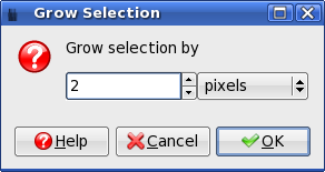 GIMP: Grow Selection