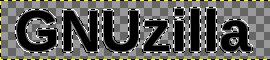 GIMP: селекција текста GNUzilla проширена за 2 px