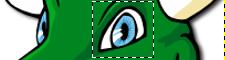 GIMP: селектовано око маскоте