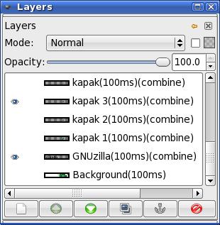 GIMP: оптимизовани слојеви