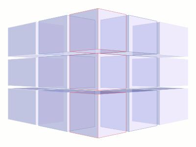 Коцка од коцки, 3x3