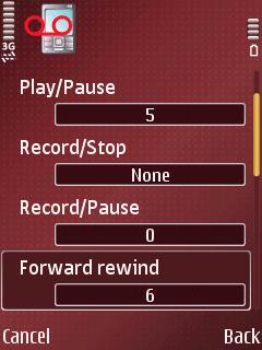 ALON MP3 Dictaphone, подешавања пречица