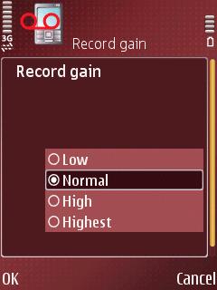 ALON MP3 Dictaphone, јачина улазног сигнала