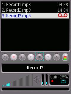 ALON MP3 Dictaphone, снимање у току