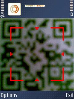 Kaywa Reader, скенирање