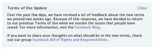 """Фејсбук обавештење о повратку старих """"Услова коришћења"""""""