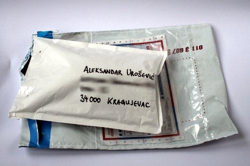 Друга коверта у свој својој величини