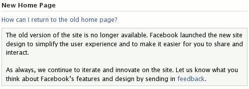 Фејсбук: Како да вратим стару насловну страницу