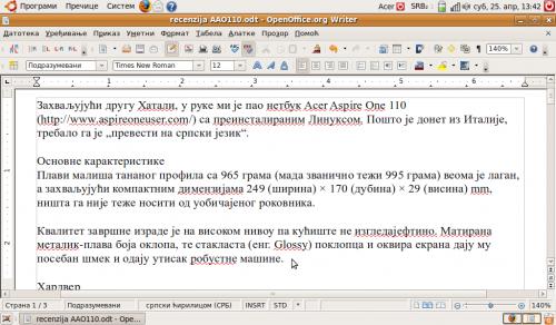 OpenOffice.org 3.0 na srpskom