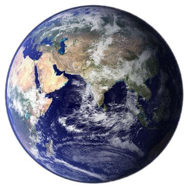 Планета Земља, источна полулопта (Извор: NASA)