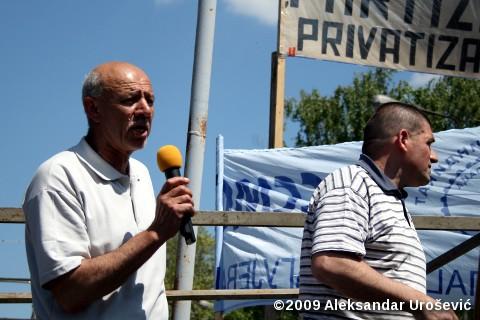 Светозар Бојанић, председник штрајкачког одбора раника Партизана