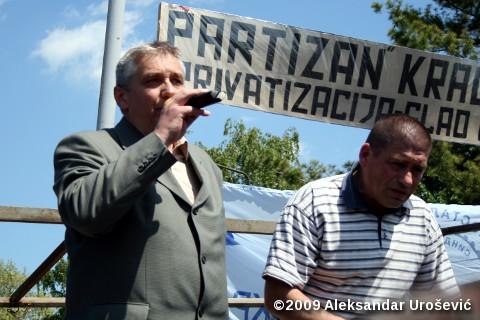 Југослав Ристић, председник Самосталних синдиката града Крагујевца