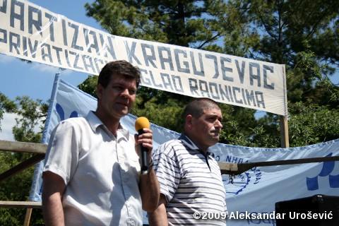 Душан Вуковић, председник Синдиката грађевинара