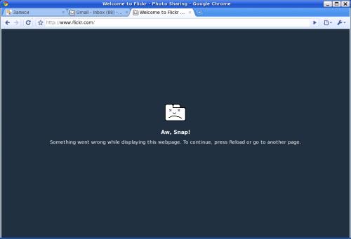 Google Chrome за GNU/Linux не може да прикаже Flickr