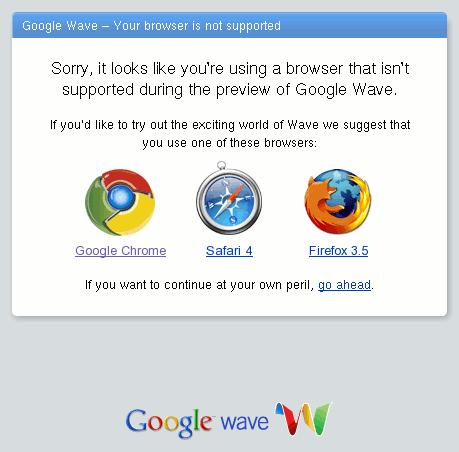 Google Wave и застарели Фајерфокс