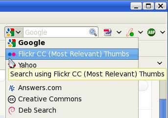 Flickr CC машина за претрагу у Фајерфоксу