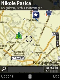 Nokia E51: Nokia Maps → Крагујевац