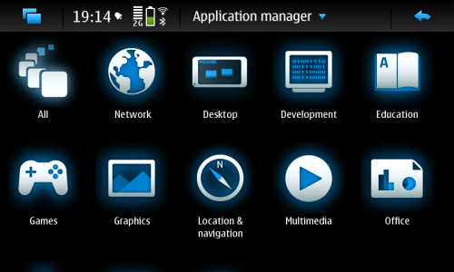Nokia N900: Application manager
