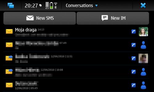 Nokia N900: Conversations