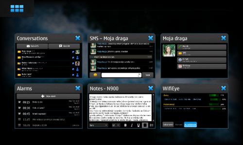 Nokia N900: Dashboard