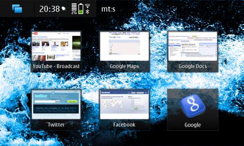 Nokia N900: пречице ка омиљеним веб локацијама