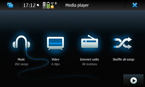 Nokia N900: Media player