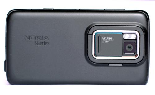 Nokia N900: задња страна
