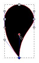 Уређивање линије ручкама чвора