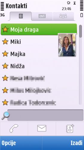 Nokia C6-00: адресар