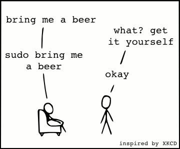 sudo bring me a beer (инспирисано стрипом на XKCD)