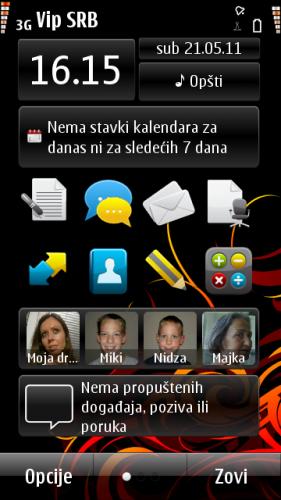 Nokia N8: портретски оријентисана радна површина