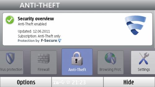 F-Secure са активним Anti-Theft модулом