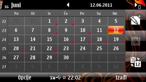Месечни преглед календара