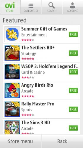 Ovi Store: Препоручене апликације