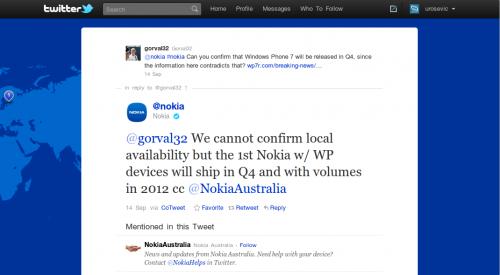 Најава Нокија уређаја са WP7