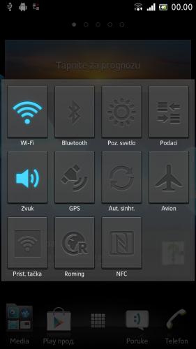 SONY XPERIA ION укључивање адаптера