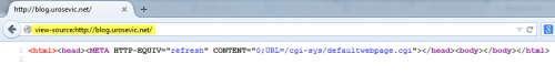 Прво учитавање кеширане редирекције оригиналне странице са префиксом view-source